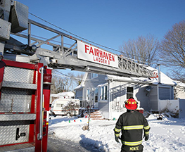Chimney fire on Crompton Street requires ladder truck