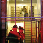 Man med-flighted after fire at McCormack Manor