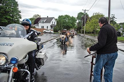 Blessing of the bikes draws 340 despite rain