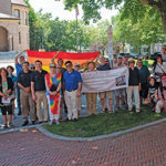 LGBTQ flag hangs at town hall for two hours