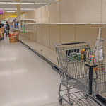 Shelves are empty as stores can't keep up with hoarding