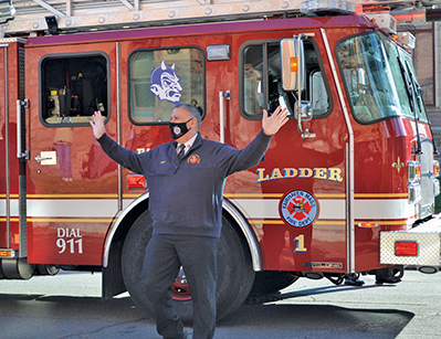 Last ride home for Fire Chief Tim Francis ends 42 year career
