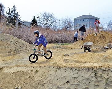 BMX pump track gets spruced up